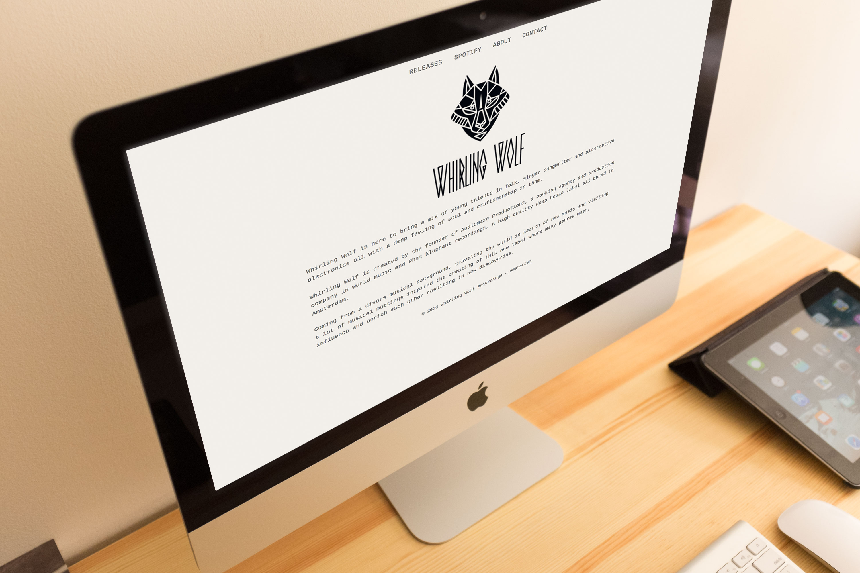 WordPress implementation for Whirling Wolf Recordings based in Amsterdam.
